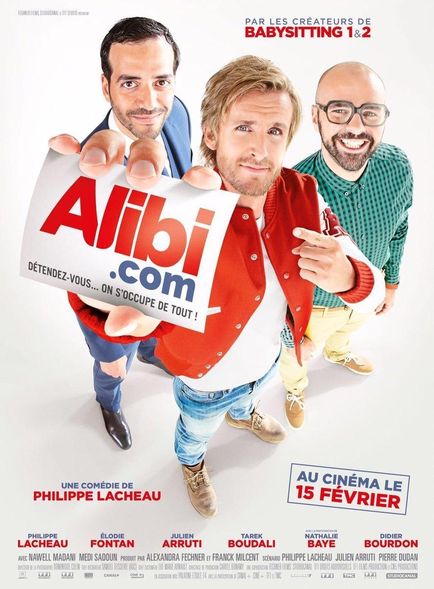 cartel de la película Alibi.com (Agencia de engaños)