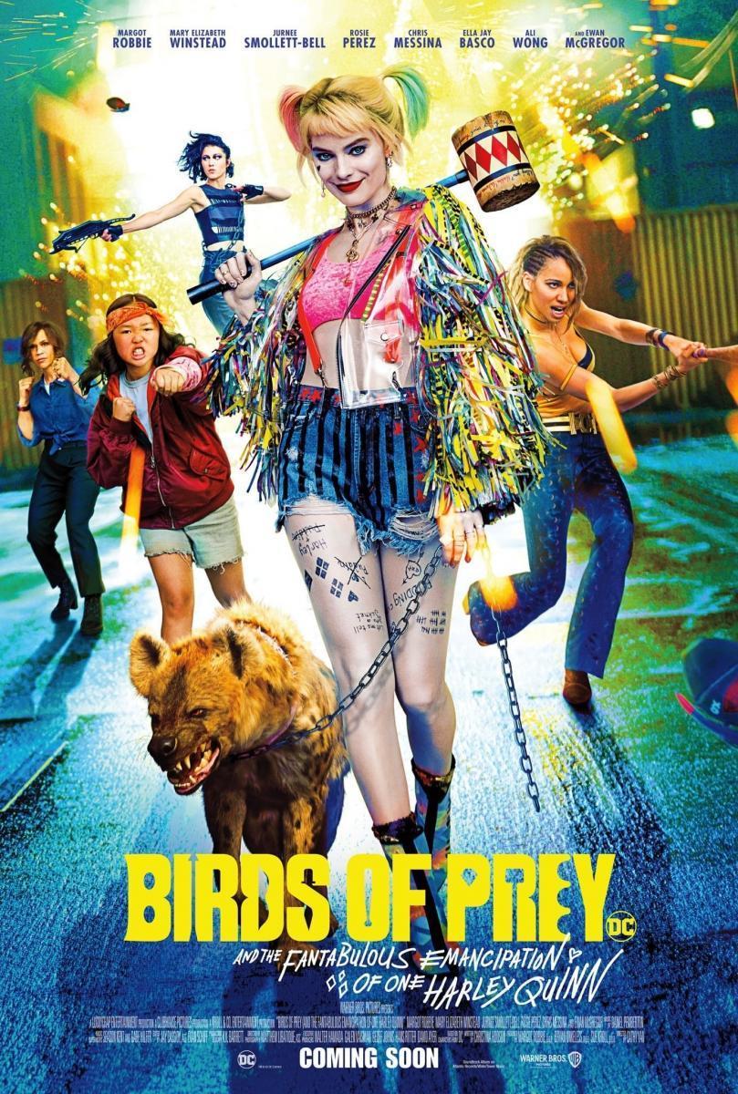 cartel de la película Aves de presa (y la fantabulosa emancipación de Harley Quinn)