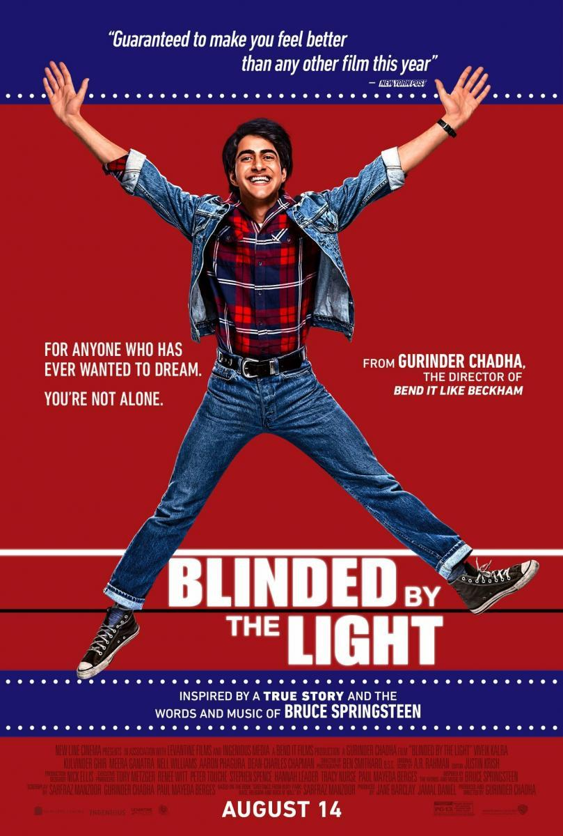 cartel de la película Blinded by the light (Cegado por la luz)