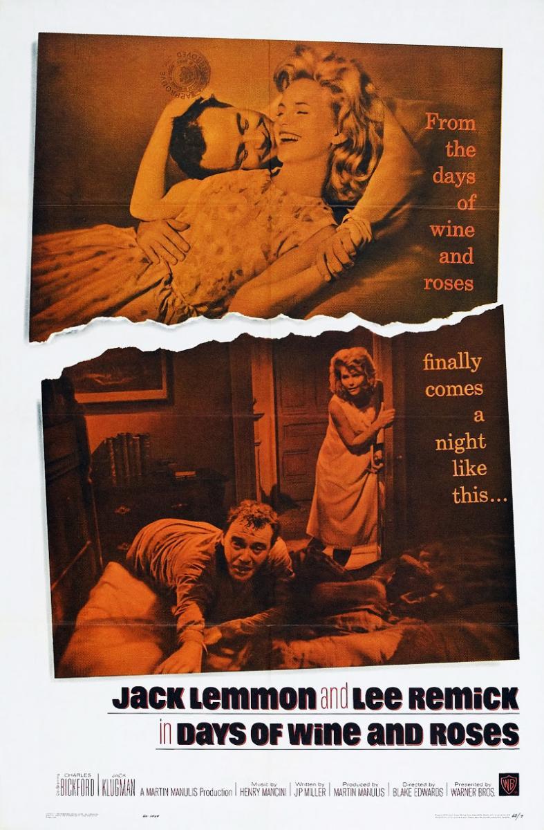 cartel de la película Días de vino y rosas