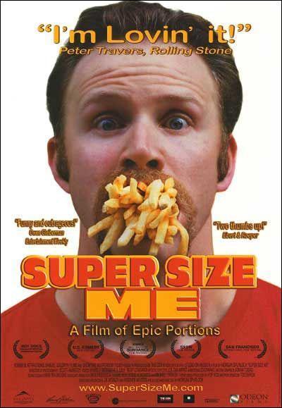 cartel de la película Super size me