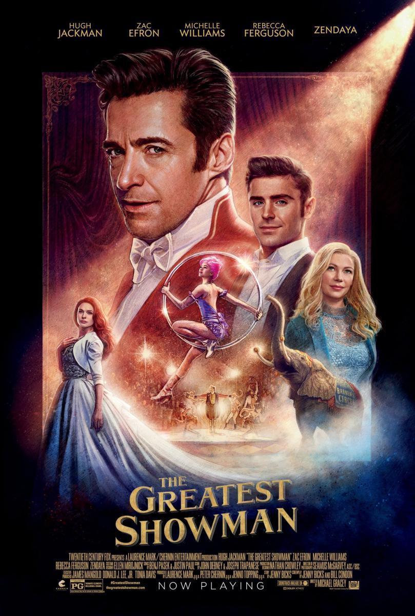 cartel de la película El gran showman