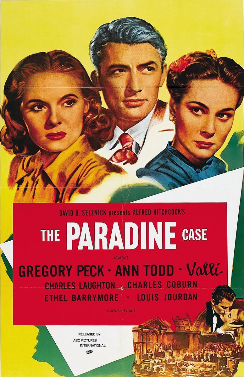 cartel de la película El proceso Paradine