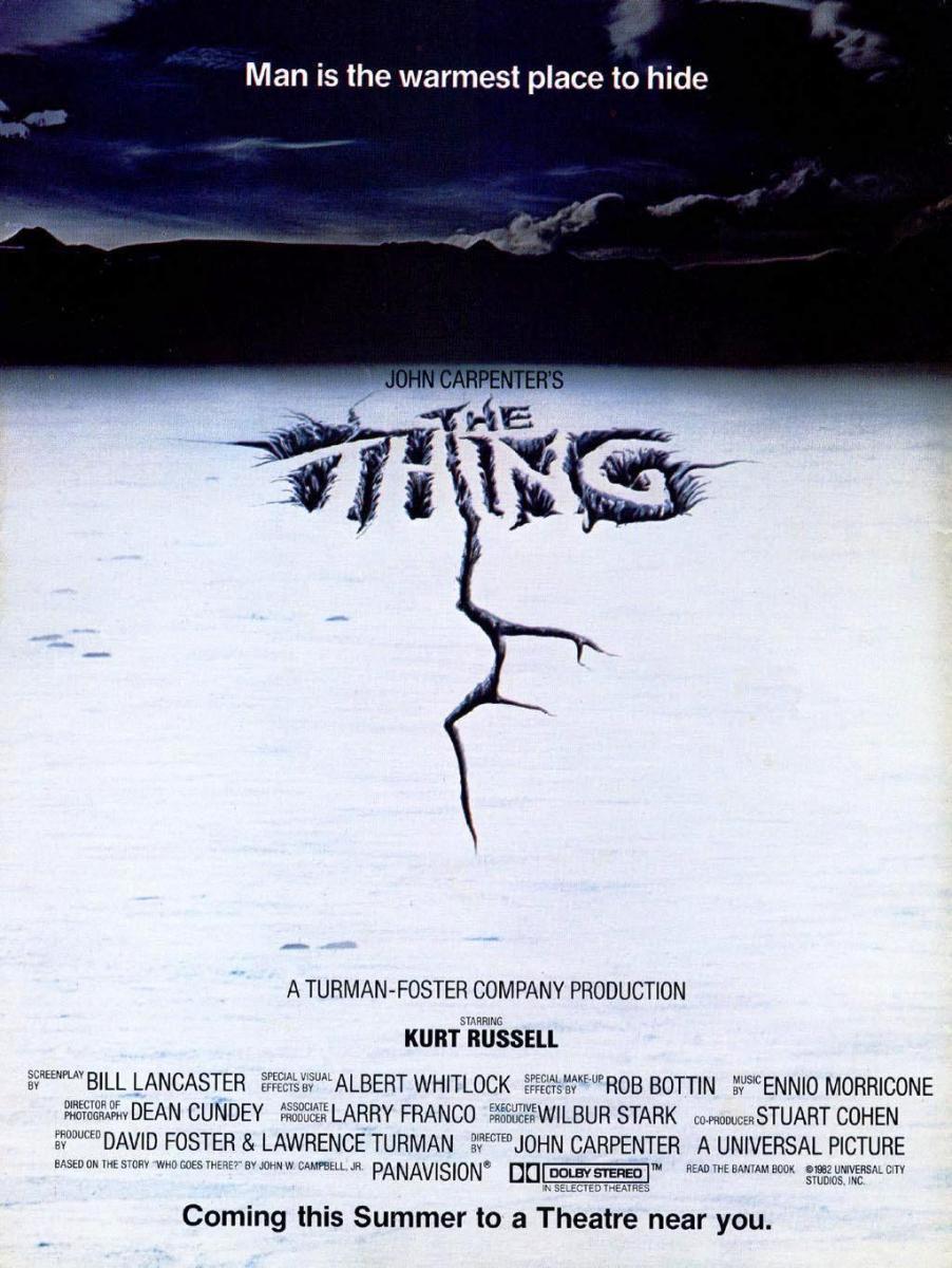 cartel de la película La cosa